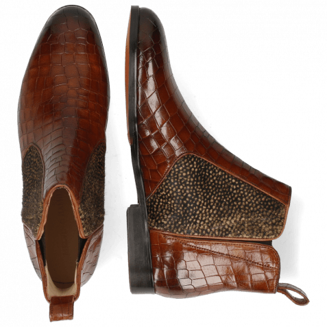 Ankle boots Susan 34 Crock Mid Brown Hairon Halftone