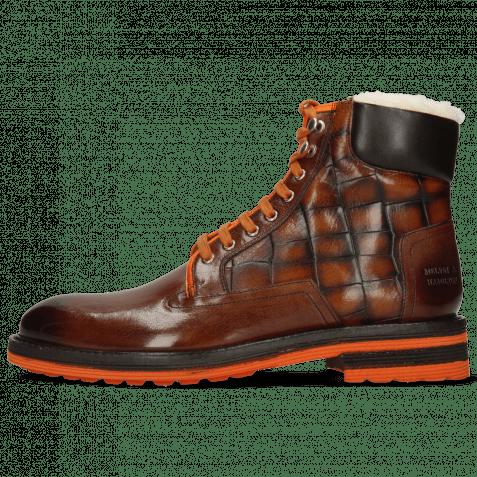 Ankle boots Trevor 35 Mogano Fluo Orange Turtle Wood Fur