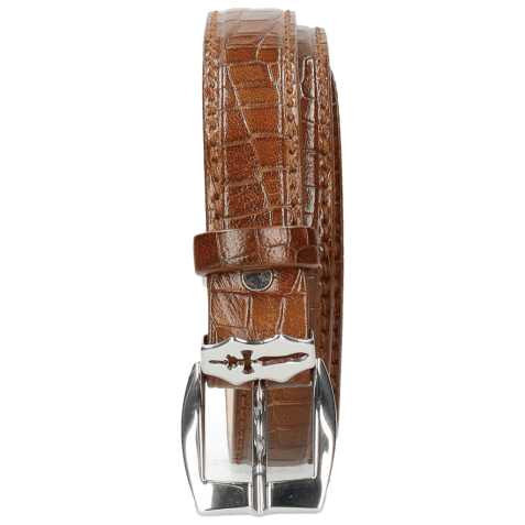 Belts Linda 1 Crock Mid Brown Sword Buckle