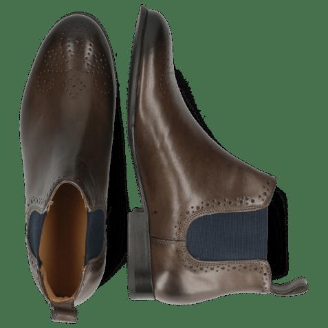 Ankle boots Sally 16 Deep Steel Elastic Navy