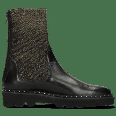 Ankle boots Susan 69 Black Stefy Black Rivets