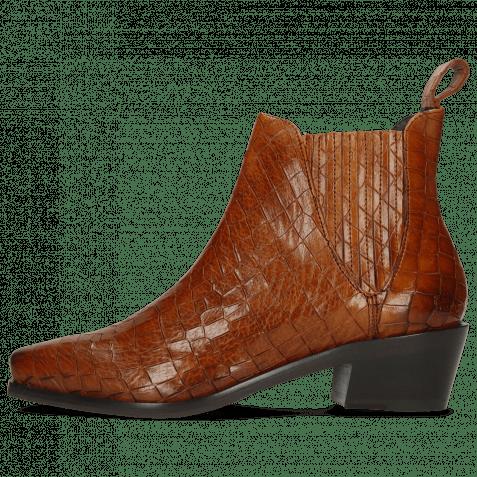 Ankle boots Kylie 1 Crock Wood Elastic Brown