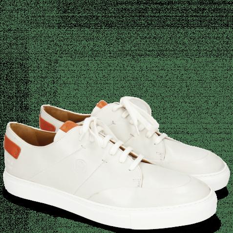 Sneakers Harvey 15 Nappa White Vegas Orange Tongue Patch