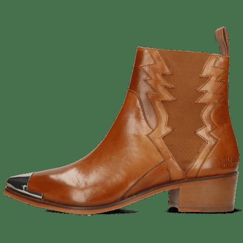 Ankle boots May 1 Venice Tan Toe Cap Gunmetal