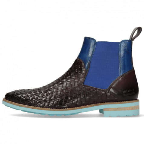 Ankle boots Brad 9 Woven Venice Deep Pink Bluette