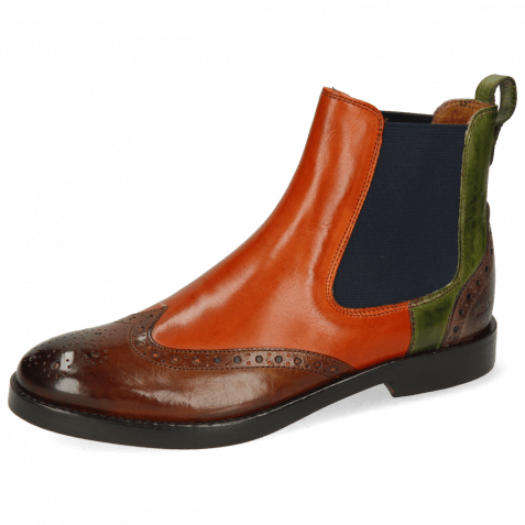 Ankle boots Amelie 5 Wood Winter Orange New Grass Stone