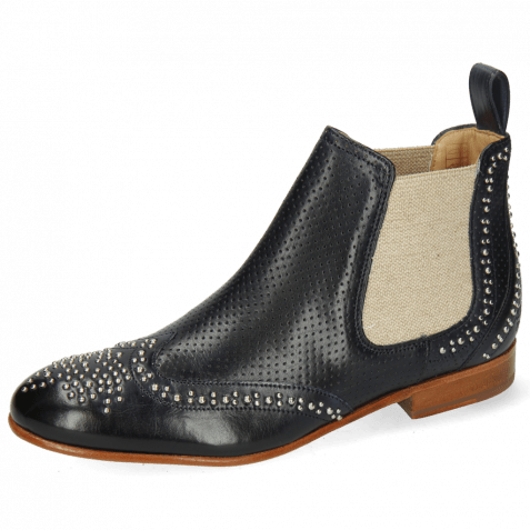 Ankle boots Sally 45 Imola Perfo Navy Rivets