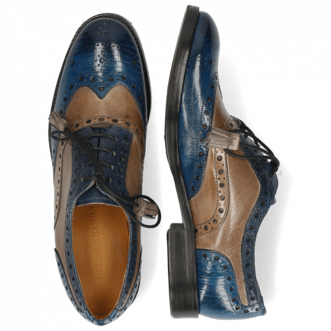 Oxford shoes Amelie 70 Guana Bluette Oxygen Phyton Wind