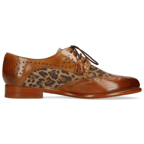 Derby shoes Selina 41 Tan Sand Suede Leo Beige