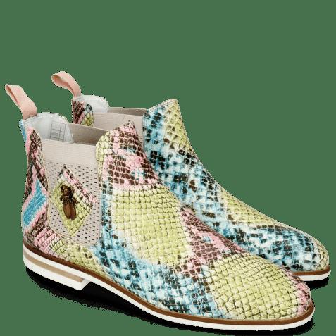 Ankle boots Susan 10A Snake Multi Fuxia Elastic Guglia