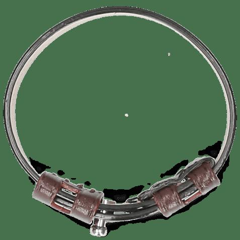 Bracelets Archie 1 Black Loops Burgundy Studs Nickle