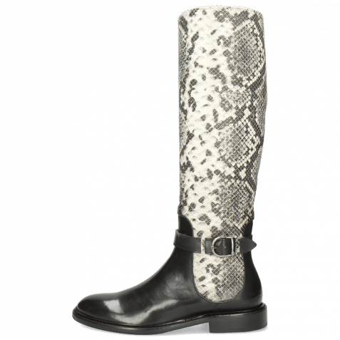 Boots Sally 59 Black Python Off White