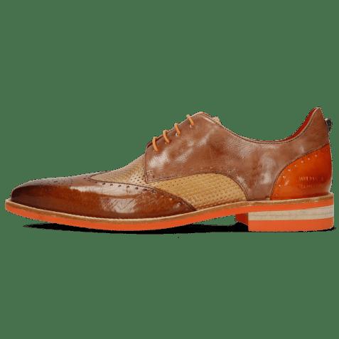 Derby shoes Dave 2 Imola Wood Perfo Sand Arancio