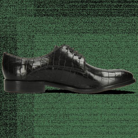 Derby shoes Amelie 14 Crock Black Lining Rich Tan