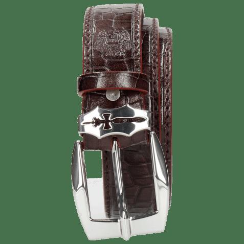Belts Larry 1 Crock Deep Pink Sword Buckle