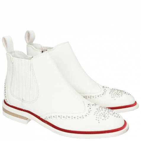 Ankle boots Sandy 4 Milled White Rivets