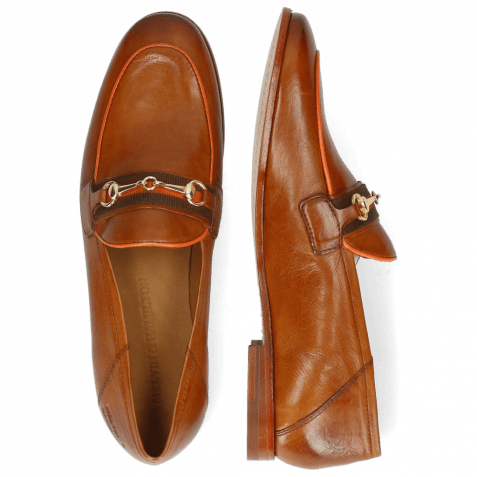 Loafers Scarlett 45 Pavia Tan Binding Fluo Orange