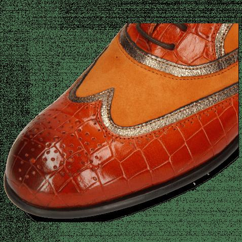Oxford shoes Sally 38 Crock Winter Orange Nappa Aztek Bronze