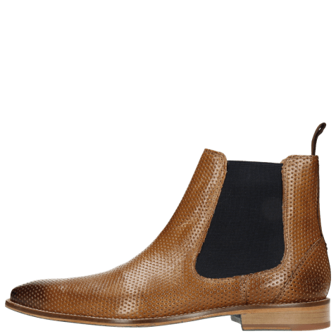 Ankle boots Martin 6 Venice Perfo Tortora Elastic Navy