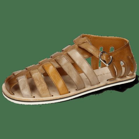 Sandals Sam 3 Imola Dark Chocolate Ash Tortora Camel Chestnut