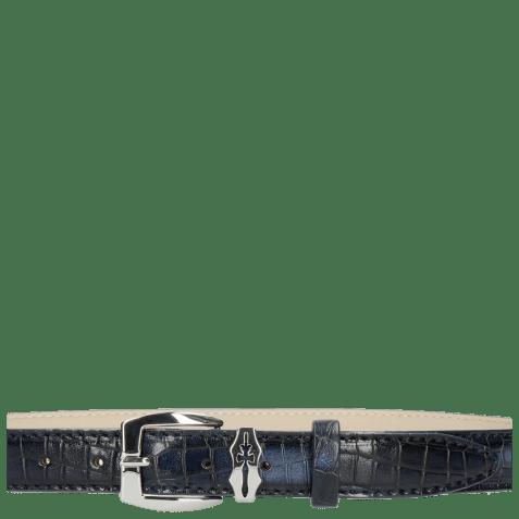 Belts Linda 1 Crock Navy Sword Buckle