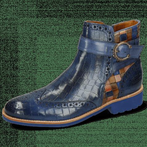 Ankle boots Amelie 67 Crock Electric Blue Woven Multi