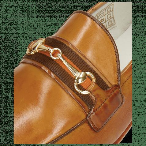 Loafers Scarlett 45 Glove Nappa Tan Strap Orange