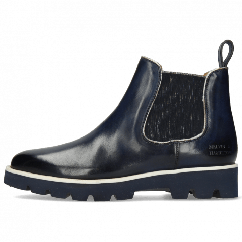 Ankle boots Selina 37 Navy Binding Cherso Silver