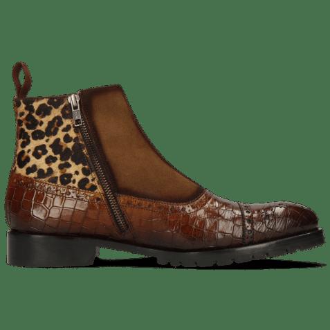 Ankle boots Patrick 22 Crock Wood Cognac Suede Pattini Tan Hairon Leo
