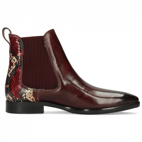 Ankle boots Emma 8 Wine Snake King Plum