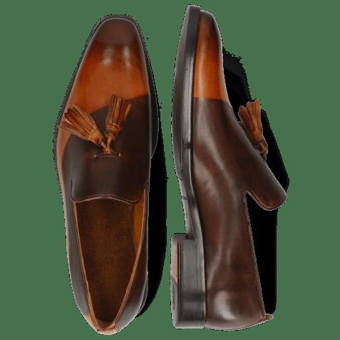Loafers Leonardo 24 Tan Shade Dark Brown