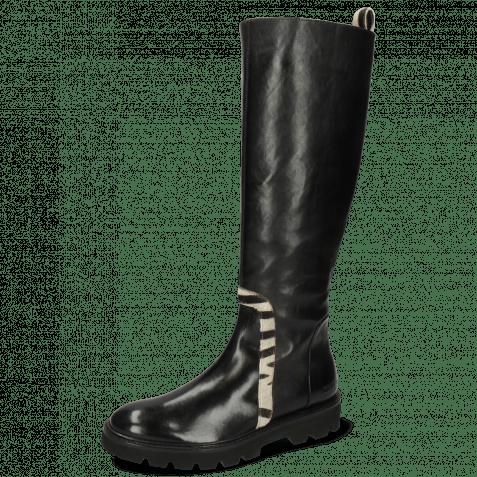 Boots Sally 161 Imola Black Hairon Wide Zebra