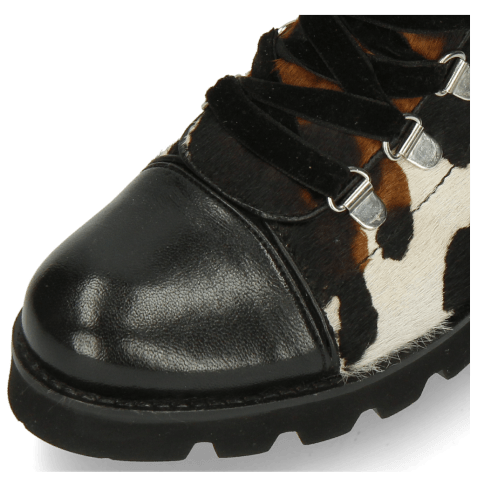 Ankle boots Bonnie 29 French Nappa Black Hairon Mucca