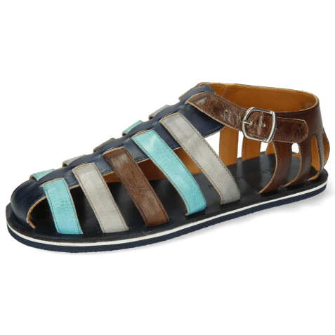 Sandals Sam 3 Imola Navy Mermaid Oxygen Dark Brown