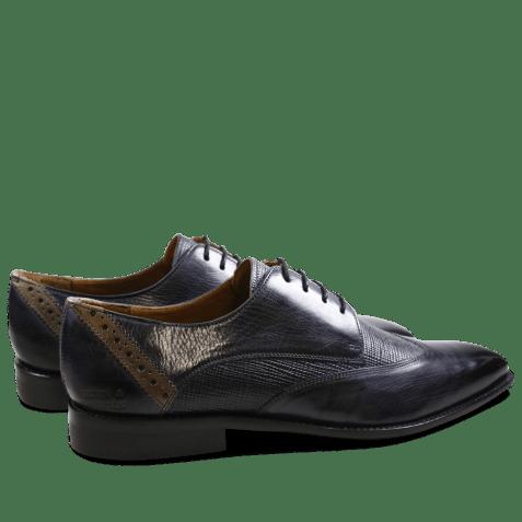 Derby shoes Xabi 1 Berlin Haina Navy Strap Smoke