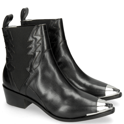 Ankle boots May 1 Black Toe Cap Gunmetal