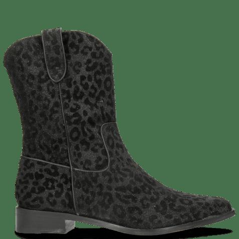Ankle boots Marlin 31 Leo Glitter Black Binding Nappa Black