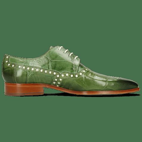 Derby shoes Lance 66 Galap Harris Green Underlay