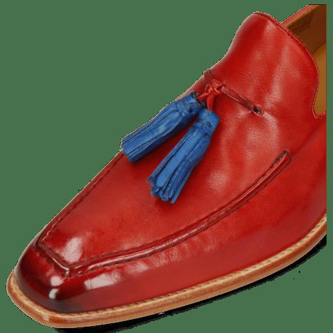 Loafers Leonardo 1 Imola Fiesta Tassel Mid Blue