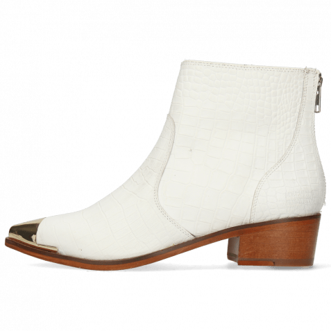 Ankle boots May 2 Nappa White Zip