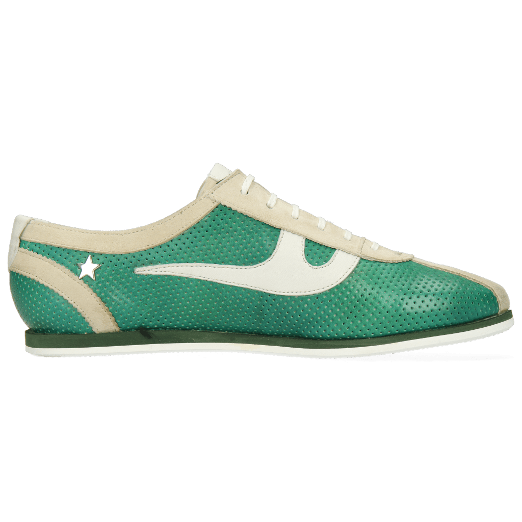 Pearl 1 Goat Suede Ivory Imola Perfo Green House Nappa White ...