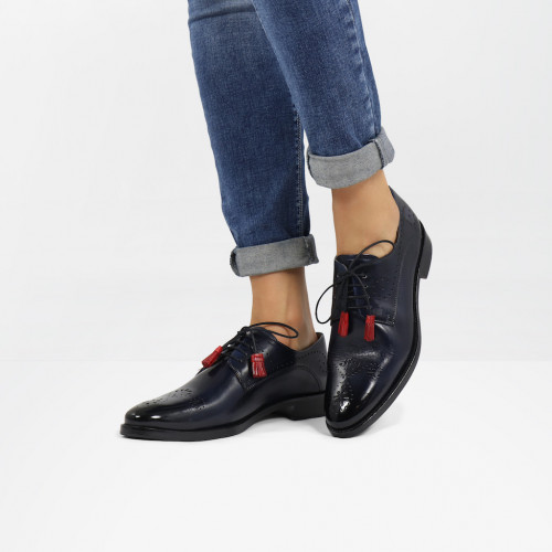Derbies Betty 2 Marine Tassel Ruby
