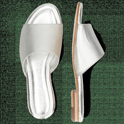 Mules Hanna 5 Plain Silver