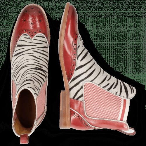Bottines Amelie 43 Ruby Hairon Young Zebra Binding Grafi