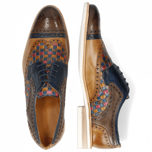 Derbies Henry 7 Stone Marine Sabbia Woven Multi