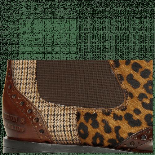 Bottines Selina 29 Mid Brown Hairon Leo Cappu Textile
