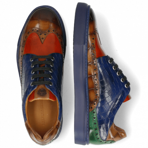 Sneakers Harvey 16 Turtle Sand Dark Brown Winter Orange Electric Blue