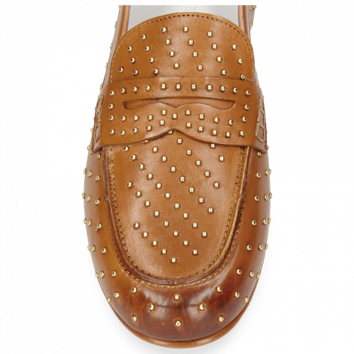 Mocassins Caroline 3 Vegas Tan Rivets
