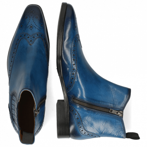 Bottines Lance 56 Mid Blue Elastic Shade Navy