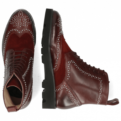 Bottines Sally 120 Mulberry Suede Wine